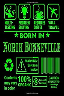 Born In North Bonneville: Lined Notebook / Journal Gift,120 Pages 6x9 Cover Matte Cute gift for brown life with books that...