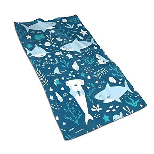 N/Q Toalla suave absorbente de microfibra con diseño de ballenas, toallas de microfibra suaves y duraderas, para cocinar y hornear, para lavar platos de baño (15.7 x 27.5 pulgadas)