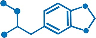 Applicable Pun MDMA - Molly Ecstasy - Chemical Compound Skeletal Formula - Vinyl Decal for Outdoor Use on Cars, ATV, Boats, Windows and More - Sky Blue 8 inch