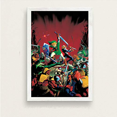 danyangshop Kunstwerk Malerei Leinwand Home Decoration Nordic Modern Style Hd Legende Von Zelda Videospiel Poster Wand...