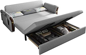 """70"""" Convertible Sectional Sofa Couch Modern Linen Fabric for Small Space, Modern Soft Loveseat Bed with 3 Lumbar Pillows f..."""
