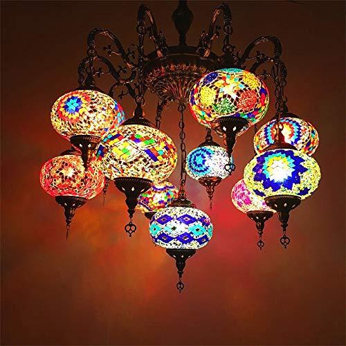 W&HH Handgefertigte authentische Tiffany pendelle Lampe Beleuchtung marokkanische Lampe Glas atemberaubende Lights Messing u. Glas osmanische türkische Stil hängende licht