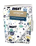 Adventure Awaits Colorful Playful Ro Ro Robots Unisex Reversible Mink 100% Polyester Baby Blanket   30 X 40 inches