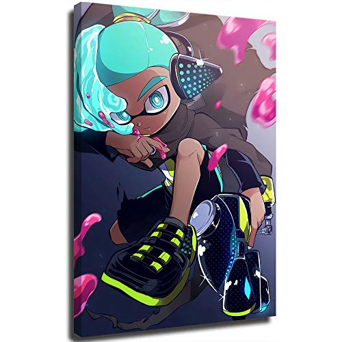 STTYE Shooting Game Agent 3 Art Poster Framed Wall Art Canvas Prints for Home Decorations 1 Panel with Frames 12x18 inch