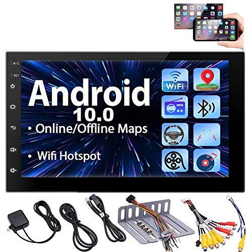lightinthebox dvd players Android 10.0 Car Stereo Touch Screen Car Radios with Bluetooth Double Din Head Unit 7 inch GPS Navigation 2 Din Video Music Player in Dash Headunit Support WiFi Mirror Link Steering Wheel Control FM