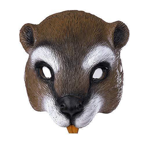 fixiyue Halloween Ostern Karneval Party Halb-Faced Pu Schaum Niedlich Tier Eichhörnchen Maske Eichhörnchen Maske