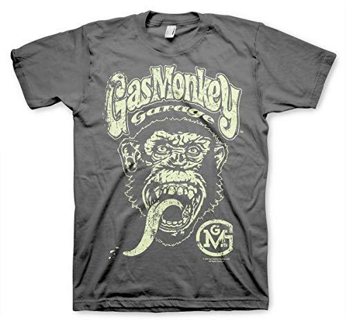 Gas Monkey Garage T-Shirt Logo Grey-XL