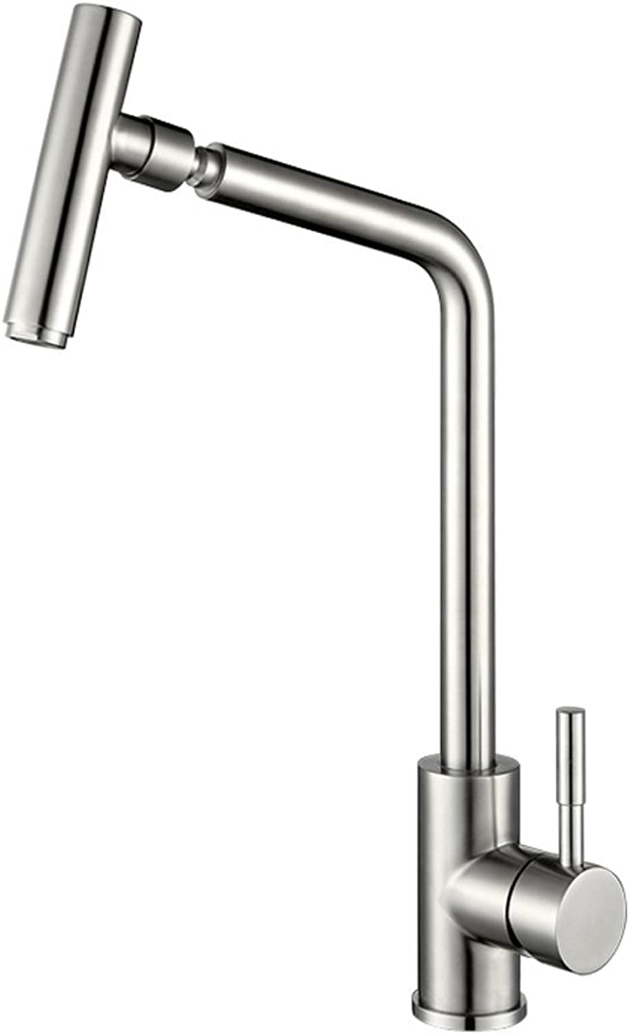CWT Kitchen sink hot and cold water faucet 304 stainless steel Lead-free Sink faucet Brushed redatable Faucet