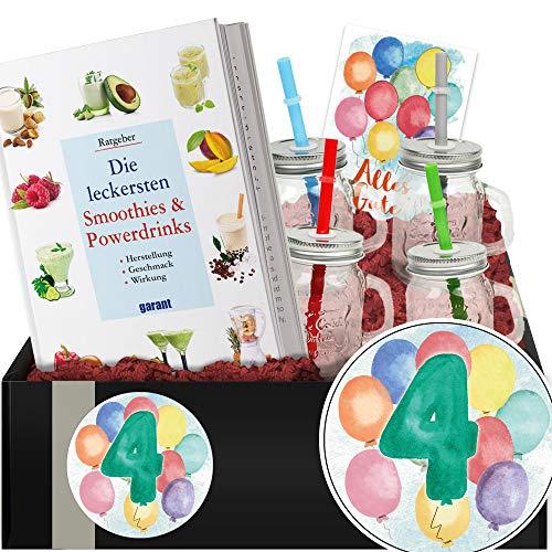 Geschenkidee 4. Jubiläum - Smoothie Geschenk Box - 4 Jubiläum Geschenk