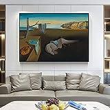 Pinturas en lienzo famosas La persistencia de la memoria Salvador Dali Arte de la pared Impresiones en lienzo Cuadros de la pared para la decoración de la pared de la sala de estar-50x75cm sin marco