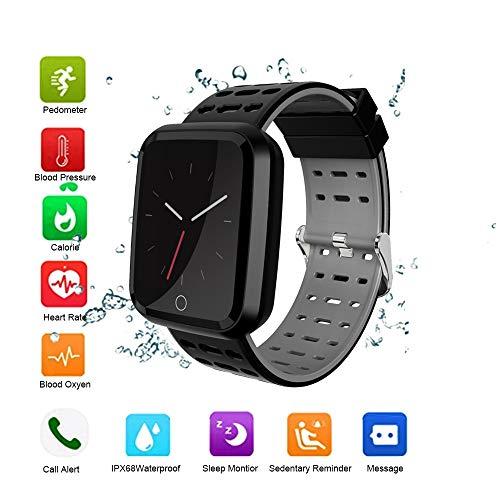 OOPPEN Smart Activity Bracelet Pulsmesser Wasserdichter Farbbildschirm IP68 Pulsmesser mit Pulsmesser Aktivitätsmesser Smartwatch Herren Schrittzähler Kalorienmesser und Schlaf-Fitness-Tracker