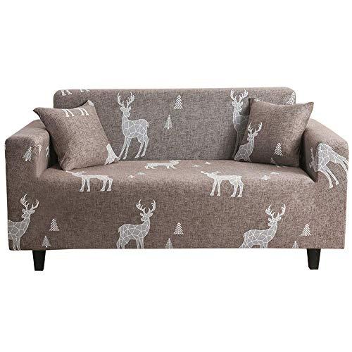 JXJ Fundas de sofá Funda de sofá Klippan Fundas de sofá elásticas Funda de sofá elástica Funda de Asiento de sofá Fundas de Silla reclinable para sillones Funda de sofá 90-140, marrón Claro