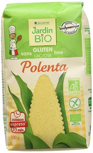 Jardin Bio Polenta Biologique sans Gluten Biodynamique 500 g - Lot de 5