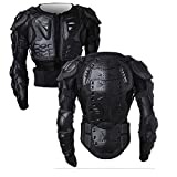 WILDKEN Motorcycle Protective Jacket Body Armour Motorcross ATV Motorbike Chest Protector with Back Protector for Off-Road Dirt Bike (Black, M)