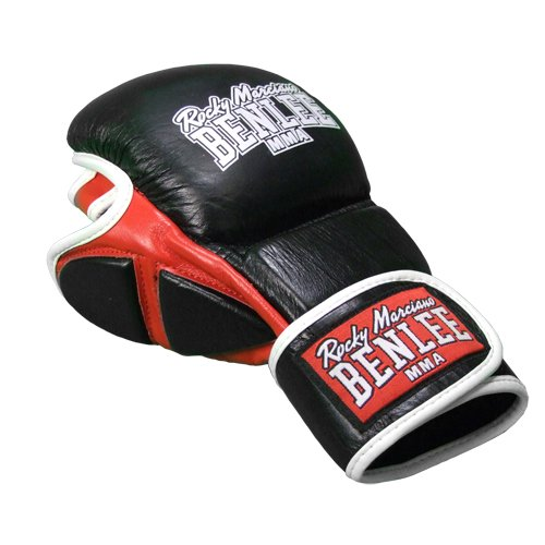 BENLEE Rocky Marciano Boxhandschuhe MMA Sparring Glove Striker, Schwarz, L/XL