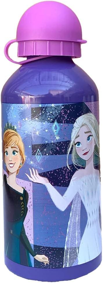 M.C. srl Botella de aluminio Frozen II Disney Elsa Anna con boquilla y tapa, 500 ml, 551-31230