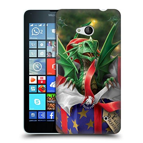 Head Case Designs Oficial Anne Stokes Regalo Sorpresa Navidad Carcasa rígida Compatible con Microsoft Lumia 640 / Dual SIM