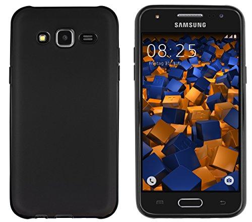mumbi Hülle kompatibel mit Samsung Galaxy J5 2015 Handy Case Handyhülle, schwarz,