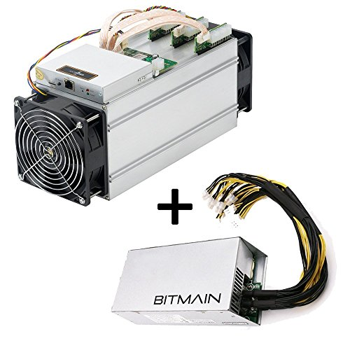 Bitmain Antminer S9 Bitcoin Miner, 0.098 J/GH Power Efficiency, 13.5TH/s and Power Supply