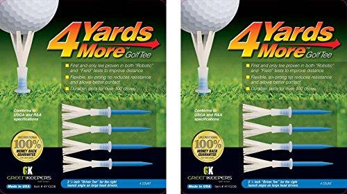 """4yards más Tees de golf, color azul """"Conductor Tee""""–31/4"""" (2Count)"""
