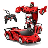 1:18 Model RC Car, Remote Control Car Transforming Robot, Transformer Toys Transform Car Robot, RC Car One Button Transforms into Robot,RC Car Toy Robot for Kids
