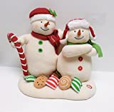 2008 Hallmark Jingle Pals Seasons Treatings Musical Dancing Singing Snowmen with Christmas Candy Cane