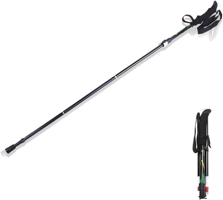 Aluminum Alloy Adjustable Folding Walking Stick,Lightweight Height Adjustable Walking Stick,Outdoor Portable Cane with Ergonomic Handle,Used in Mountain Climbing Skiing Hiking Play