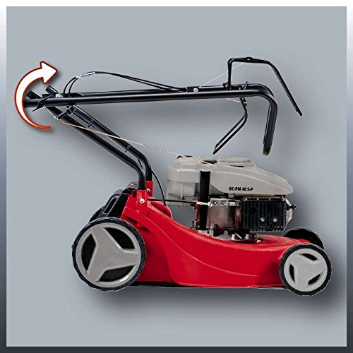 Einhell GC-PM 40 S-P Self Propelled Petrol Lawnmower with 40 cm Cutting Width - Black, Blue