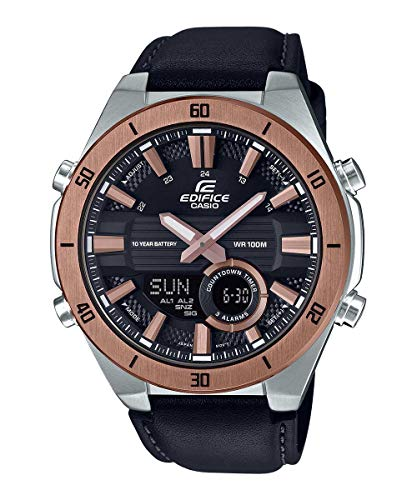 Casio Edifice Herren Massives Edelstahlgehäuse und Lederarmband Uhrenarmband ERA-110GL-1AVEF