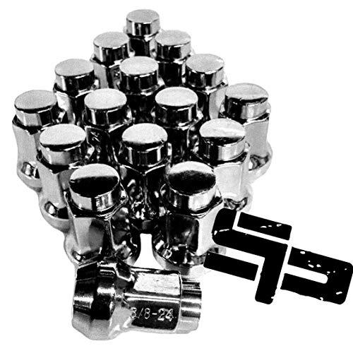 Paquete de 16 tuercas cónicas cromadas Polaris Sportsman Ranger Rzr 900xp 800 700 600 570 500 450 425 400 335 250 (3/8'-24)