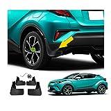 Ruiya C-HR - Guardabarros para coche (4 unidades, plástico), color negro