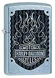 Zippo Harley-Davidson, Accendino Antivento, Ricaricabile a Benzina Unisex-Adulto, Street Chrome, Regular 5.7 x 3.7 x 1.2 cm