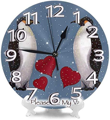 AZHOULIULIU Co.,ltd Decoración de Relojes de Escritorio de pingüinos Emperador para Oficina Den excelente