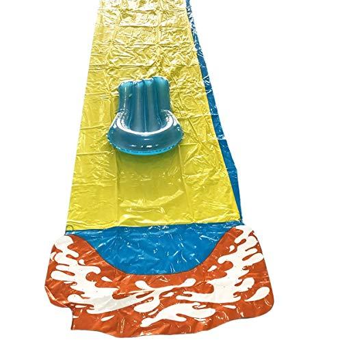 Deportes de agua para hombres y mujeres Slide 488x71cm agua inflable Juego doble grande corredor de agua de la piscina de los niños Racer con diapositivas tabla de surf de verano al aire libre Jardín