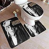 Almohadilla Antideslizante para baño Lucinda Williams Good Souls Better Angels Absorbent Carpet BathMat Anti-Slips 3 Piece Set Bathroom Carpet Set Soft Anti-Skids Bath Mat + Contours50x80cm