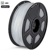 SUNLU ABS Plus 3Dプリンタフィラメント、ABSフィラメント1.75 mm、3D印刷フィラメント3Dプリンタ用3Dフィラメント、透明な色ABS +
