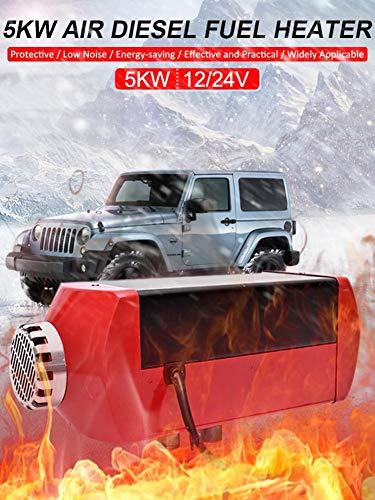 Calentador De Aire, 5 KW 12V24V Aparcamiento De Combustible De Aire Combustible Diesel Calentador Del Coche Camión Diesel Calefactor De Estacionamiento Para RV Autocaravana Camiones De Remolque Barcos