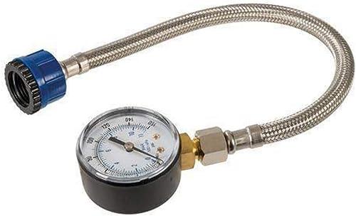 Silverline 482913 Manomètre pour conduites d'eau, Or