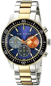 1f04490ba Ted Baker Men s TE3060 Dress Sport Analog Display Japanese Quartz Silver  Watch