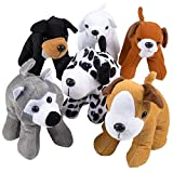 ArtCreativity Dog Plush Assortment - Set of 6 - Soft and Cuddly Stuffed Animals for Toddlers - 6 Cute Puppy Designs - Fun Birthday Party Favors - Kids Carnival Prize - Gift Idea for Boys and Girls