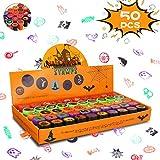 Auney 50pcs Sellos para niños, Sellos de Tinta automática Sellos de Halloween para niños, favores...