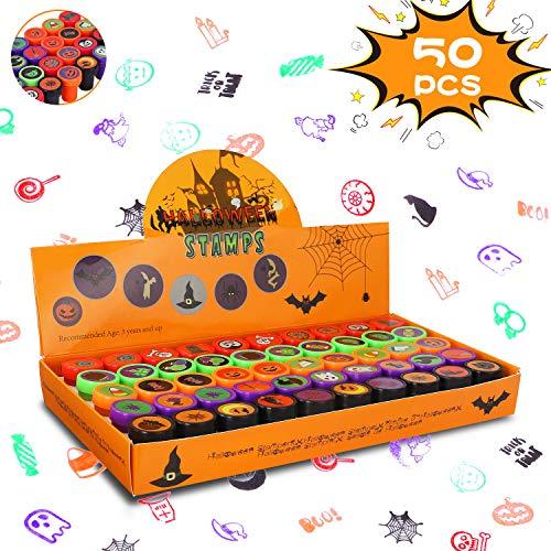 Auney 50pcs Sellos para niños, Sellos de Tinta automática