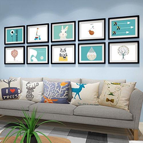 Fotobehang Fotogalerij Frame Sets Van Muur Mode Huisdecoratie Met Bruikbare Kunstwerken En Familie, Sets Van 10 Modieus Ontwerp