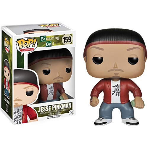 Jesse Pinkman: Funko POP! TV Vinyl Figure & 1 POP! Compatible PET Plastic Graphical Protector Bundle [#159 / 04344 - B]
