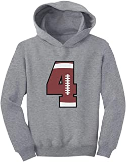 Tstars Gift for 4 Year Old 4th Birthday Football Toddler Hoodie