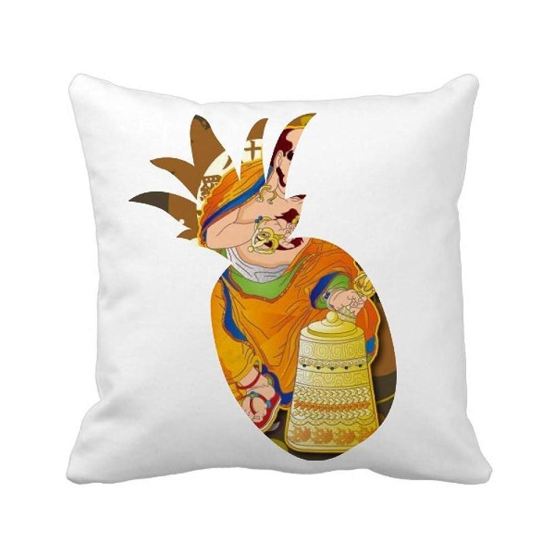 ジャズサスティーン約仏教の十八羅漢図のパターン パイナップル枕カバー正方形を投げる 50cm x 50cm