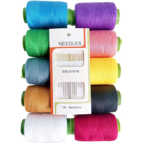 Hair Thread Weave Needle and Thread Set T Pins for Wigs Sewing Thread for Sewing Needles Hair Clips for Styling Sectioning (1+70+15)