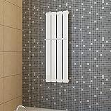 VIENDADPOW Klimageräte Paneelheizkörper weiß 311mmx900mm+Handtuchstange