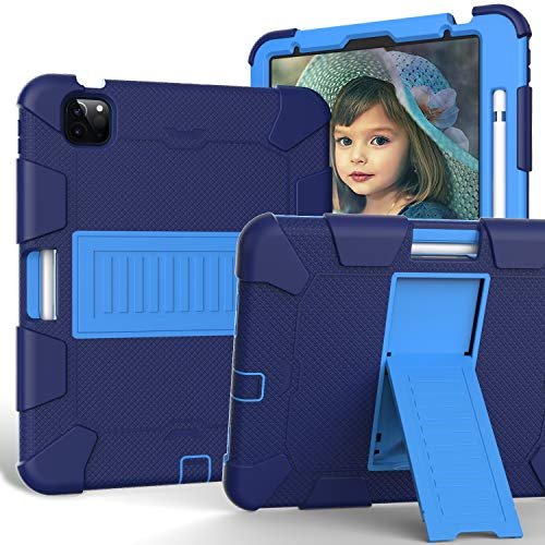 Capa para iPad 10.9 2020 iPad Air 4ª geração, ZERMU suporte de três camadas resistente à prova de choque capa robusta PC + capa protetora híbrida de silicone resistente a impactos para iPad 10,9 polegadas modelo 2020