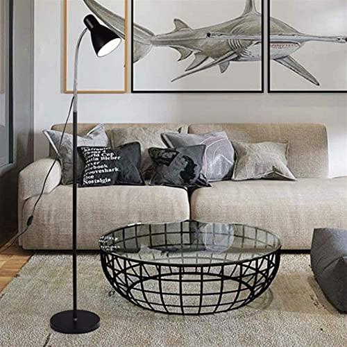 Araña Creativa Lámpara de pie Nordic E27 Soporte Metal Metal Lámpara de pie Lámpara de Mesa Moderna Interior Lámpara de pie Lámpara de pie Lámpara de decoración del hogar E27 Sala de Estar Dormitorio